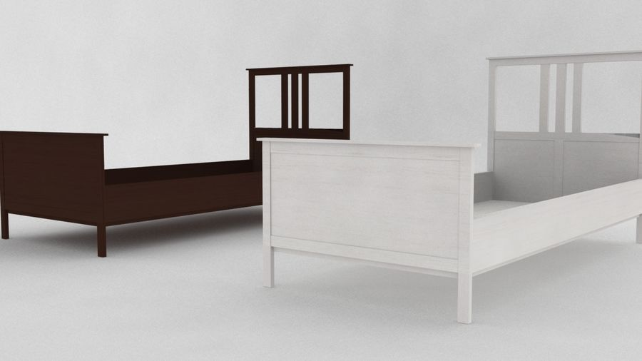 IKEA HEMNES Bed frame Single royalty-free 3d model - Preview no. 4