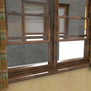 美国风格推拉木窗 3d model