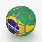 Soccerball fancy Brazil 3d model