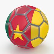 Soccerball fancy Cameroon 3d model