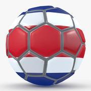 Soccerball fancy Costa Rica 3d model