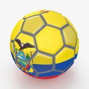 Soccerball fancy Ecuador 3d model