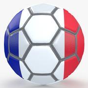 Soccerball fancy France 3d model