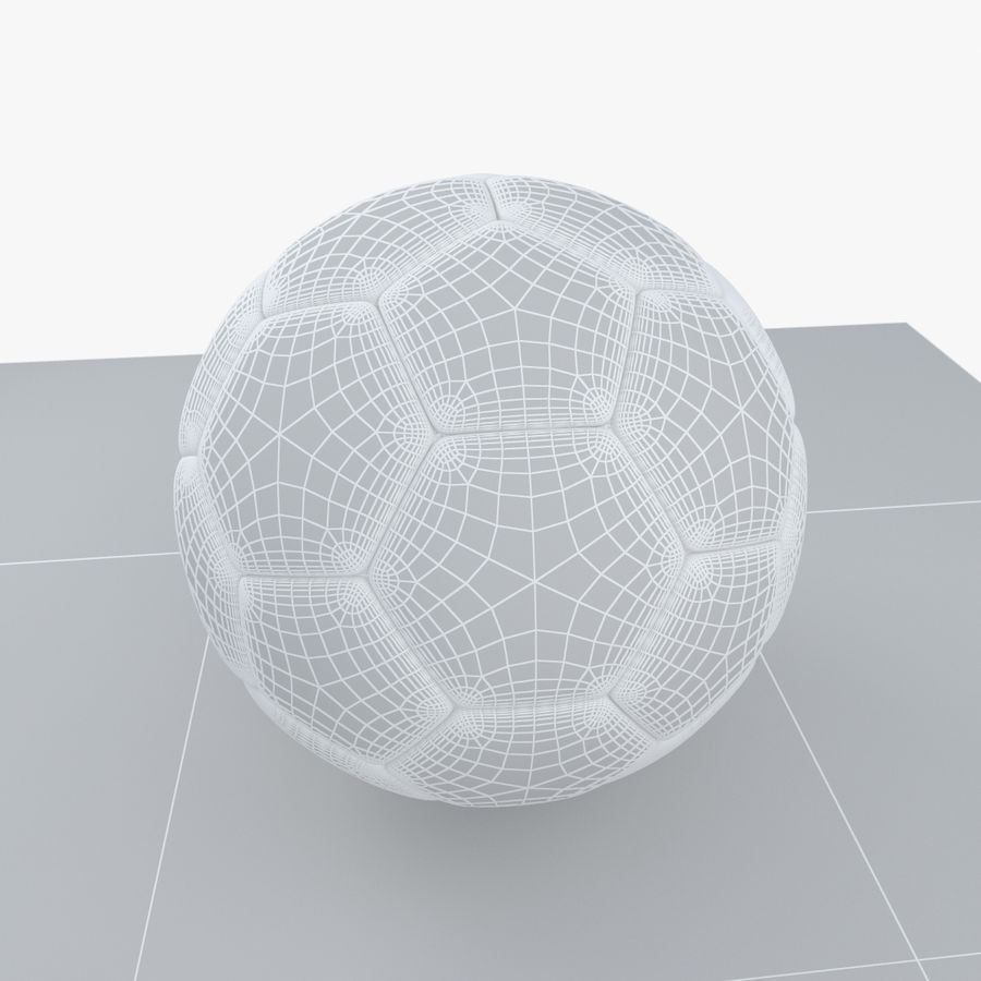 Soccerball France royalty-free 3d model - Preview no. 9