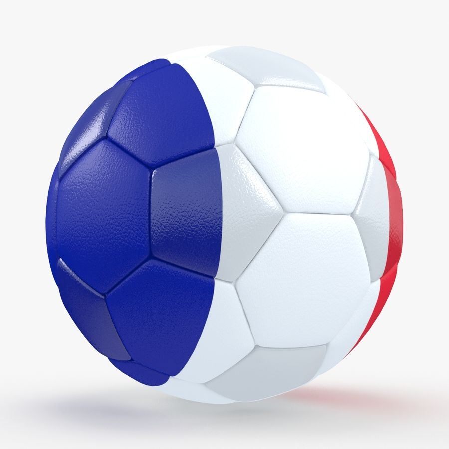 Soccerball France royalty-free 3d model - Preview no. 1