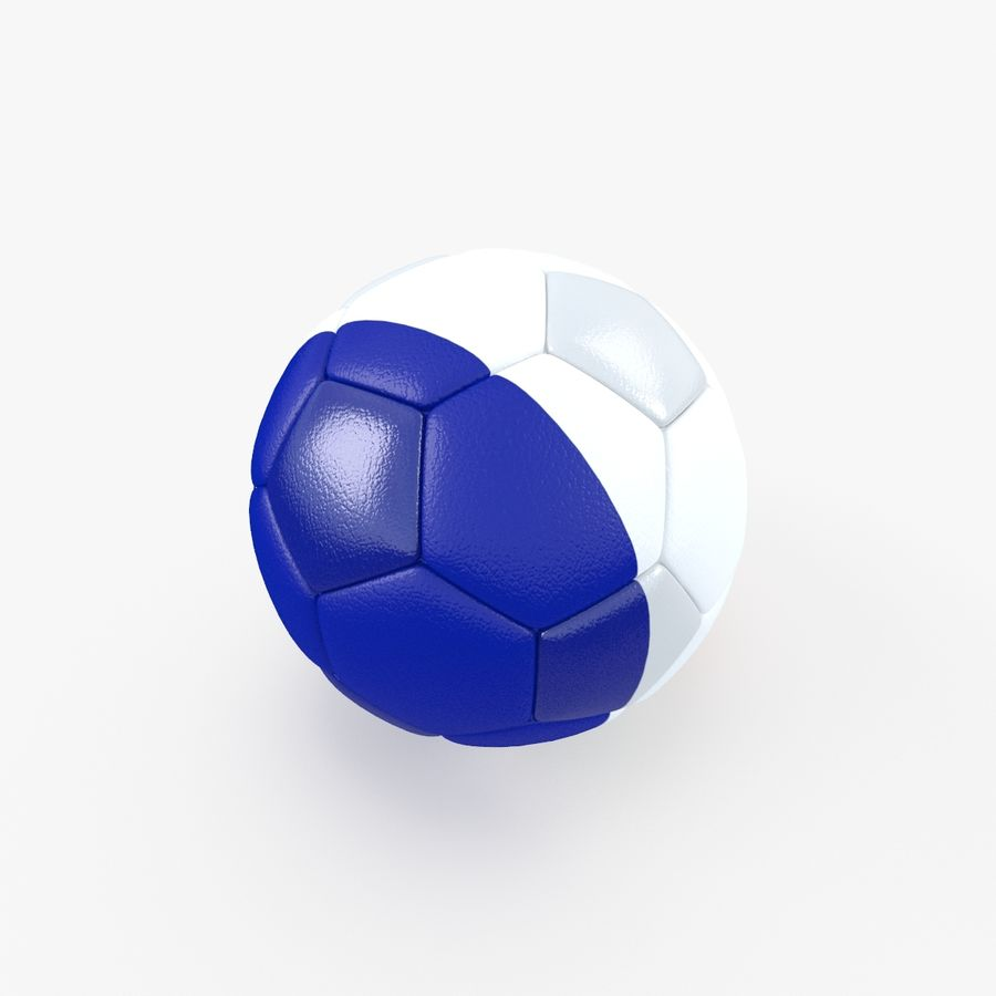 Soccerball France royalty-free 3d model - Preview no. 5