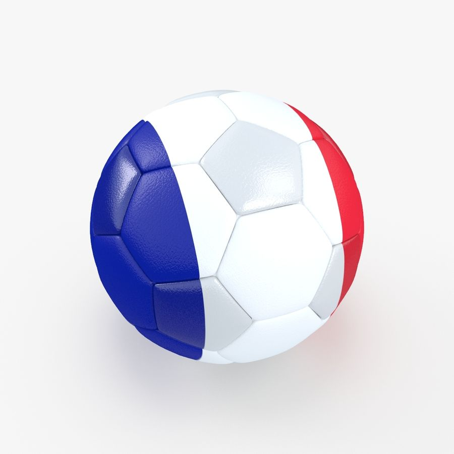 Soccerball France royalty-free 3d model - Preview no. 2