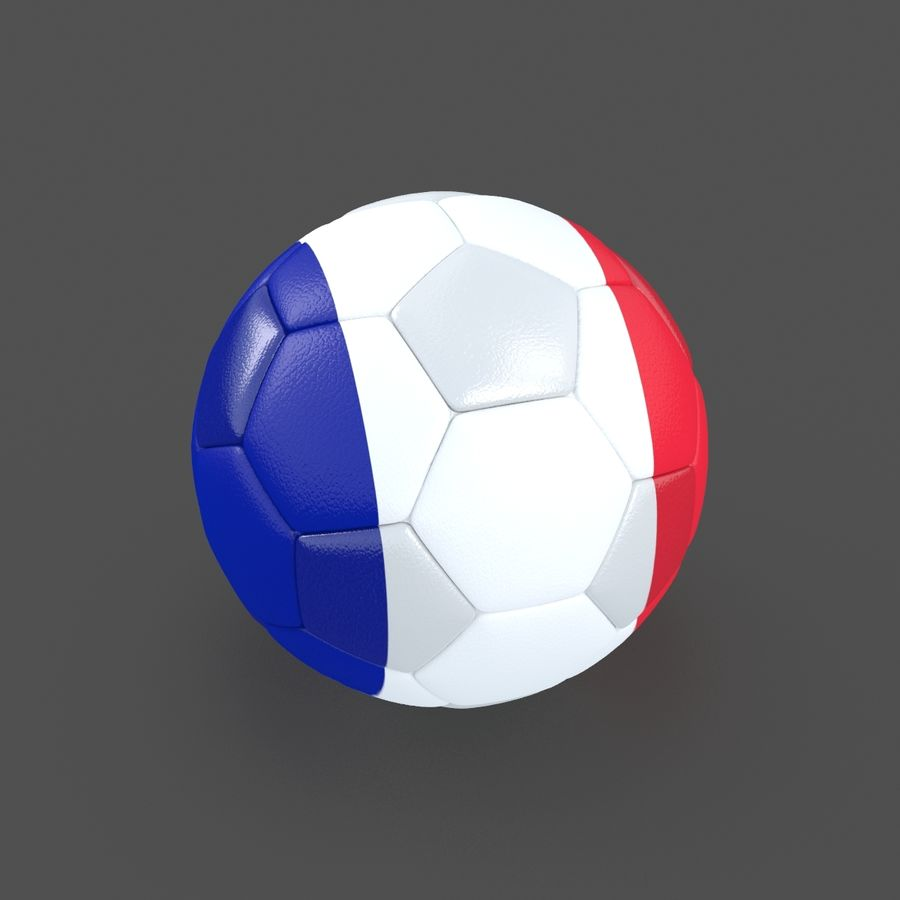 Soccerball France royalty-free 3d model - Preview no. 4