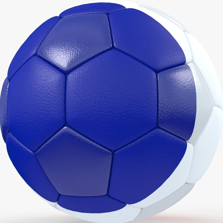 Soccerball France royalty-free 3d model - Preview no. 3