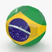 Soccerball LowPolyブラジル 3d model