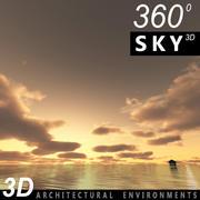 Ciel 3d coucher de soleil 037 3d model