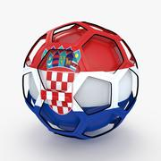 Emission de football Soccer Croatie 3d model