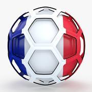 Programa de TV de Soccerball França 3d model