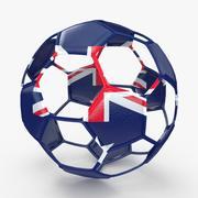 Fio para bola de futebol B Austrália 3d model