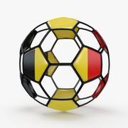Fil de football B Belgique 3d model
