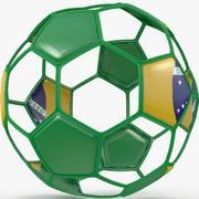 Fil de football B Brésil 3d model