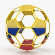 Soccerball wire B Colombia 3d model