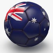 Soccerball pro clean Australia 3d model
