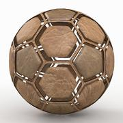 Soccerball dissasembled old 3d model