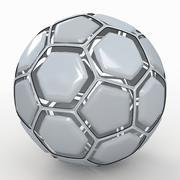Soccerball dissasembled white 3d model