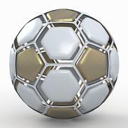 Soccerball dissasembled white gold 3d model