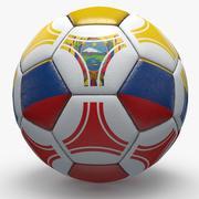 Soccerball pro triangles Ecuador 3d model