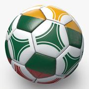 Soccerball pro triangles Lithuania 3d model