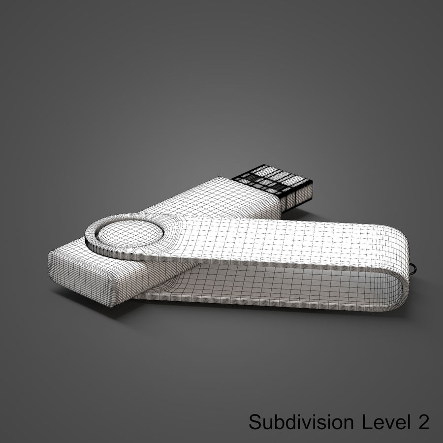 USB Flash Drive royalty-free 3d model - Preview no. 15