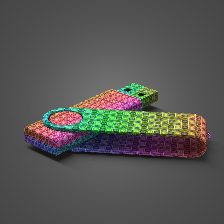 USB Flash Drive royalty-free 3d model - Preview no. 9