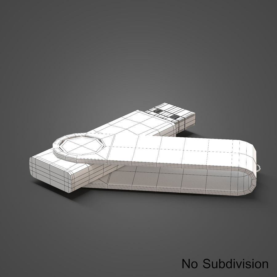 USB Flash Drive royalty-free 3d model - Preview no. 12