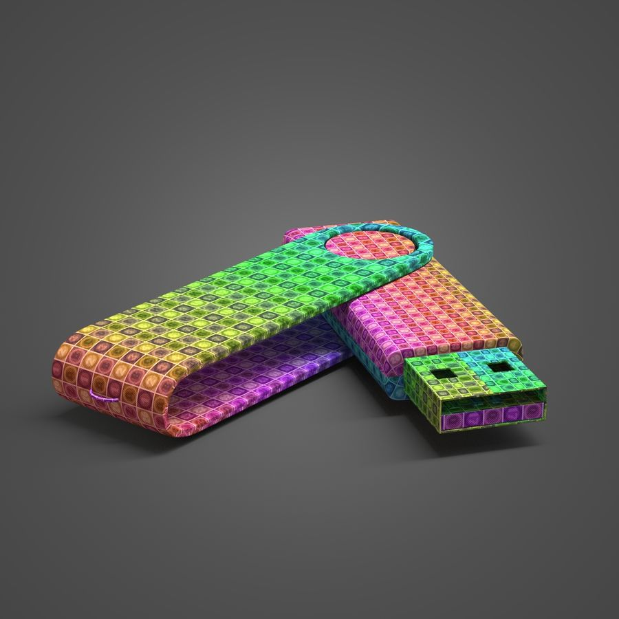 USB Flash Drive royalty-free 3d model - Preview no. 8
