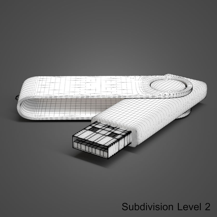 USB Flash Drive royalty-free 3d model - Preview no. 13
