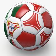 Soccerball pro triangles Portugal 3d model