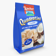 Loacker Coconut Quadratini Wafers 3d model