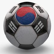 Soccerball Korea 3d model