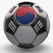 Soccerball Corée 3d model