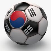 Soccerball pro clean black Korea 3d model