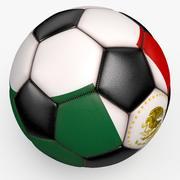 Piłka nożna pro czysty czarny Meksyk 3d model