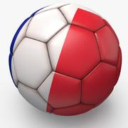 Soccerball pro sauberes Frankreich 3d model