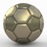 Soccerball fancy gold 3d model