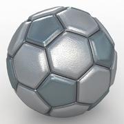 Soccerball fancy hardmetal 3d model