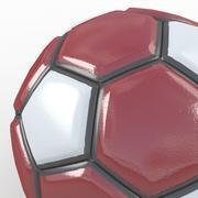 Soccerball fancy red white 3d model