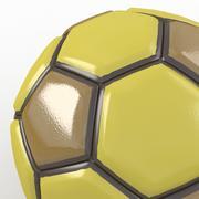 Soccerball fancy yellow 3d model