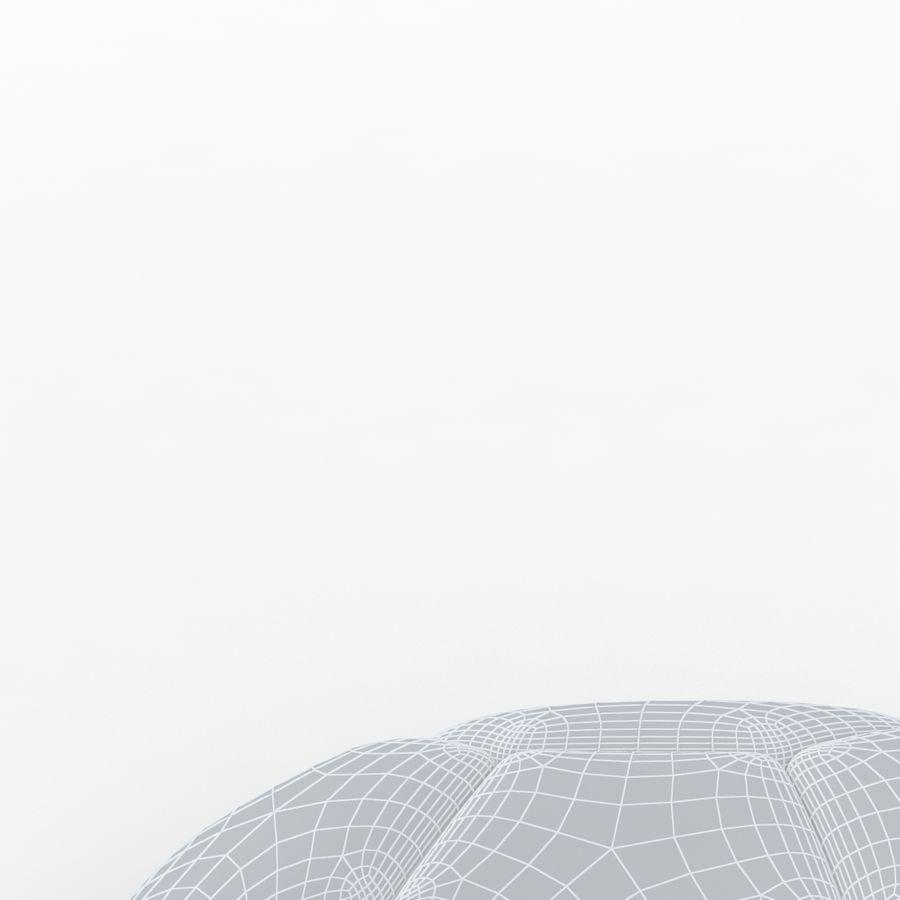 Soccerball plat bleu noir royalty-free 3d model - Preview no. 9