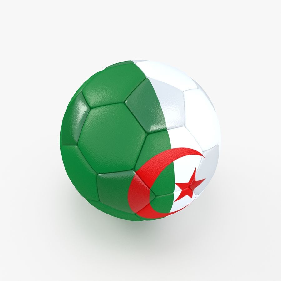 Soccerball Algérie royalty-free 3d model - Preview no. 5