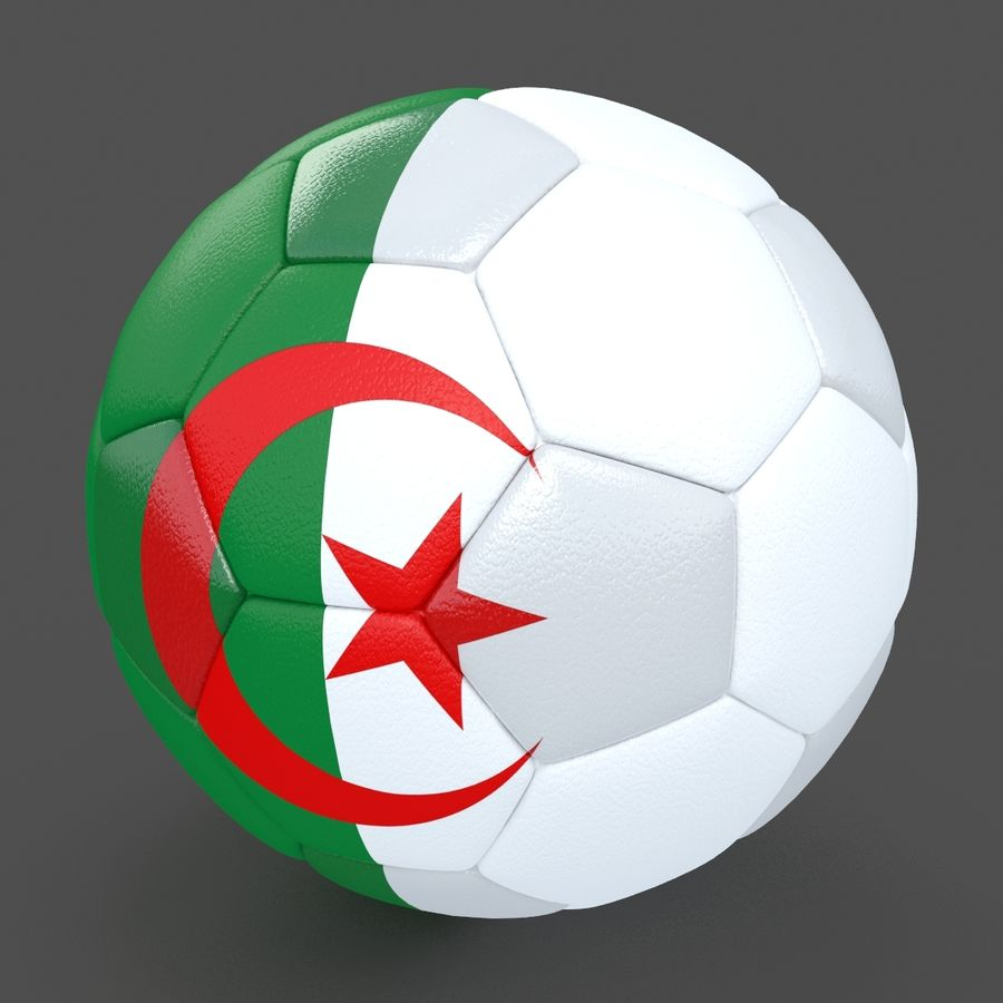 Soccerball Algérie royalty-free 3d model - Preview no. 2