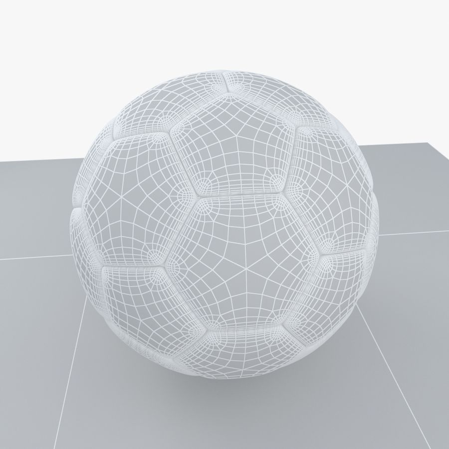 Soccerball Algérie royalty-free 3d model - Preview no. 9