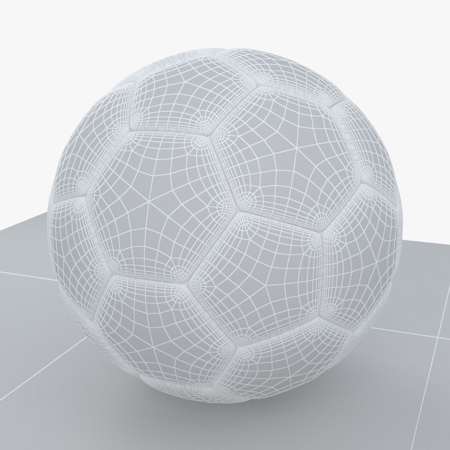 Soccerball Algérie royalty-free 3d model - Preview no. 8