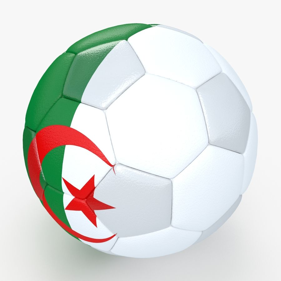 Soccerball Algérie royalty-free 3d model - Preview no. 1