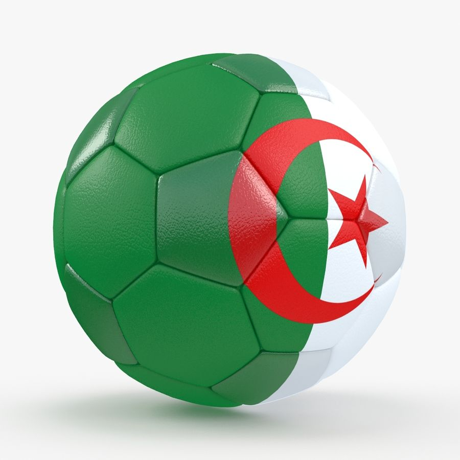 Soccerball Algérie royalty-free 3d model - Preview no. 6